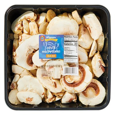 Wegmans Food You Feel Good About Sliced White Mushrooms, FAMILY PACK