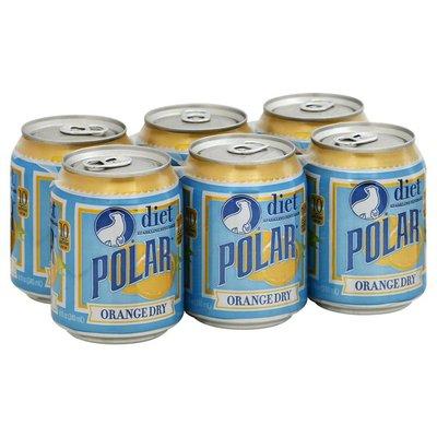 Polar Sparkling Beverage, Orange Dry, Diet