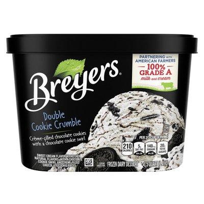 Breyers Frozen Dairy Dessert Double Cookie Crumble