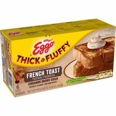 Eggo Thick and Fluffy Frozen French Toast, Frozen Breakfast, Cinnamon Brown Sugar
