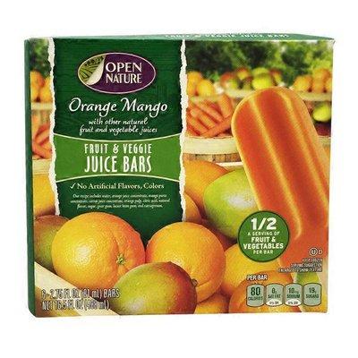Open Nature Orange Mango Fruit & Veggie Juice Bars