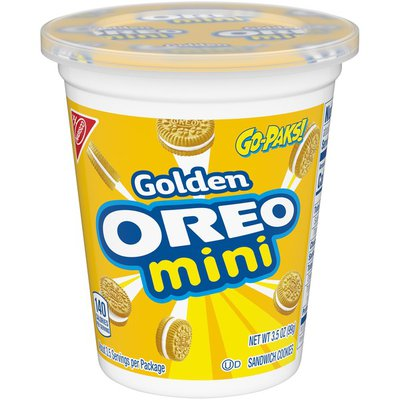 Oreo Mini Golden Sandwich Cookies - Go-Pak