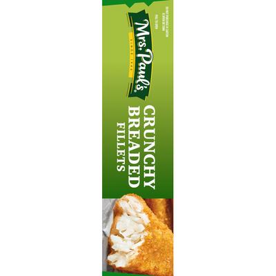 Mrs. Paul's Fish Fillets, Crunchy Breaded