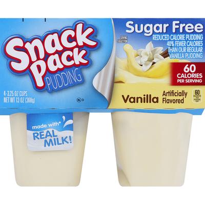Snack Pack Pudding Sugar Free Vanilla