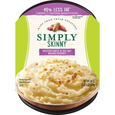 Simply Skinny Roasted Garlic & Sea Salt Mashed Potatoes