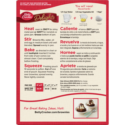 Betty Crocker Delights Brownie Mix Supreme Frosted