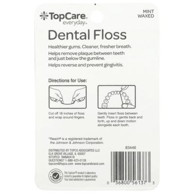 TopCare Waxed Dental Floss, Mint