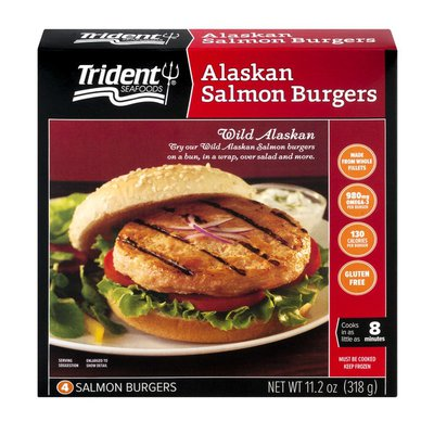Trident Seafoods Salmon Burgers, Alaskan