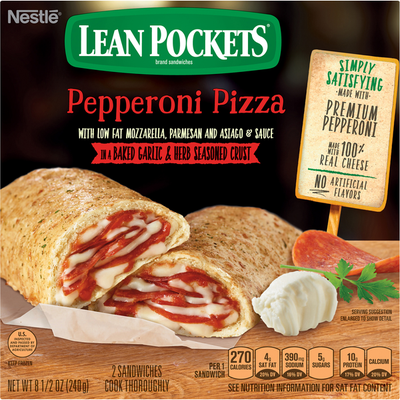 LEAN POCKETS Pepperoni Pizza Frozen Sandwiches