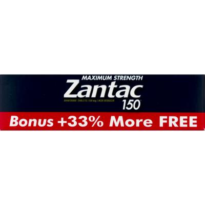 Zantac 150 Acid Reducer Maximum Strength