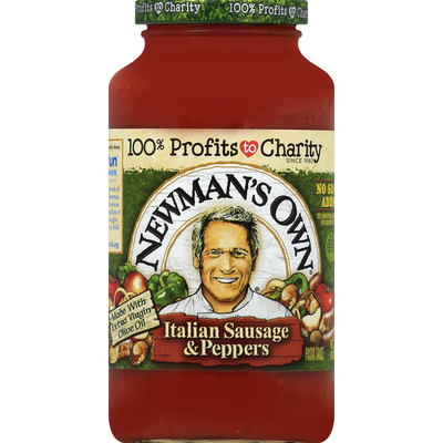 Newman's Own Pasta Sauce, Italian Sausage & Peppers