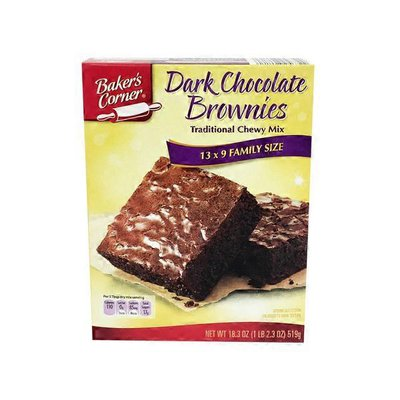 Baker's Corner Dark Chocolate Brownie