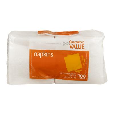Guaranteed Value Napkins - 100 CT
