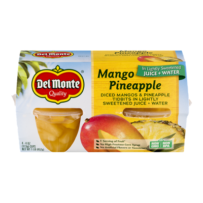 Del Monte Diced Mango Pineapple in Light Syrup Fruit Cups