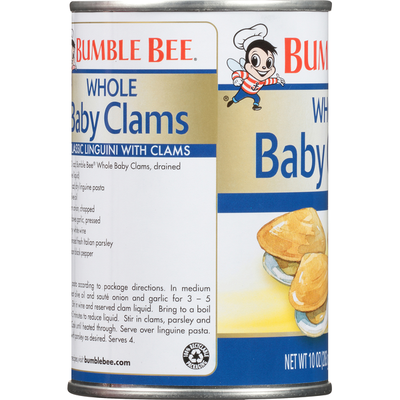Bumble Bee Shucked Whole Baby Clams