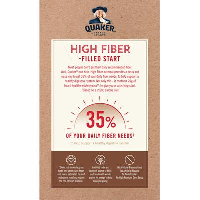 Quaker Select Starts High Fiber Maple & Brown Sugar Instant Oatmeal