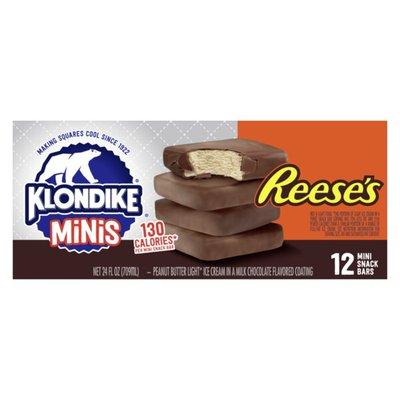 Klondike Frozen Dairy Dessert Bars Reese's Minis