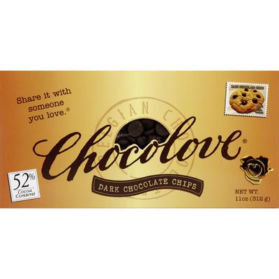 Chocolove Dark Chocolate Chips, Belgian, 52% Cocoa Content