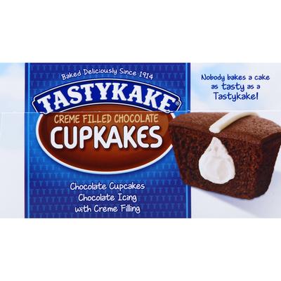 Tastykake Creme Filled Chocolate Cupcakes