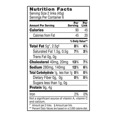 Johnsonville Sausage Fully Cooked Turkey Breakfast Sausage, 12 Count