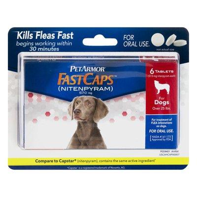 PetArmor FastCaps Flea Killer Tablets For Dogs Over 25 lbs. - 6 CT
