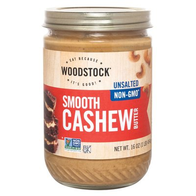 WOODSTOCK Non-GMO Unsalted Smooth Cashew Butter