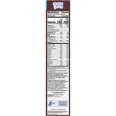 Cocoa Puffs Chocolate Breakfast Cereal with Whole Grains