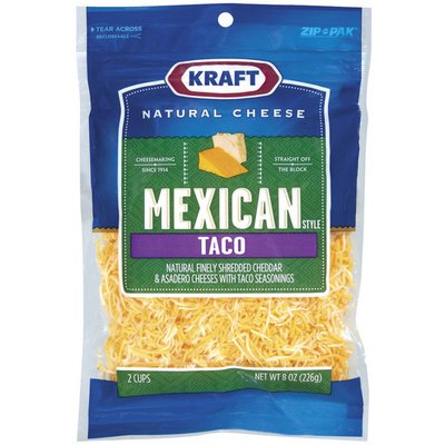 Kraft Finely Shredded Cheese, Mexican Style Taco