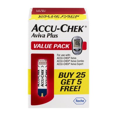 Accu-Chek Aviva Plus Glucose Test Strips