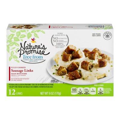 Nature's Promise Sausage Links Pork - 12 CT