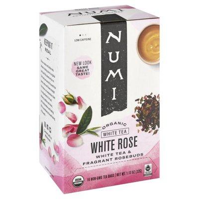 Numi Organic Tea White Tea, Organic, White Rose, Tea Bags