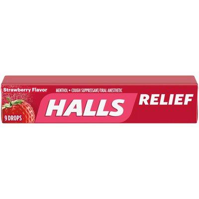 Halls Strawberry Flavor Cough Drops