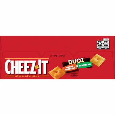 Cheez-It Cheese Crackers, Baked Snack Crackers, Office and Kids Snacks, Cheddar and Parmesan