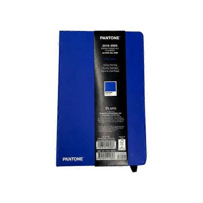 """Pantone 5.25"""" x 8.25"""" Noble Blue 2020 18-Month Compact Weekly Fashion Planner"""