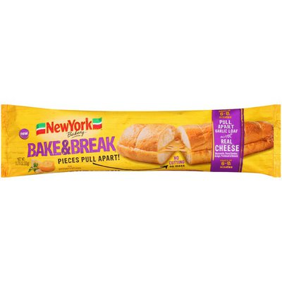 New York Style Bakery Pull Apart Garlic Loaf with Real Cheese