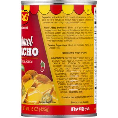 Ricos Cheese Sauce, Cheddar, Gourmet Nacho, Medium