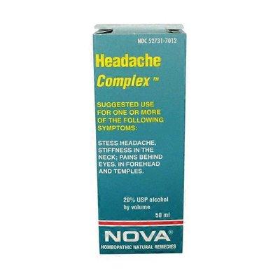 Nova Headache Complex Homeopathic Remedy