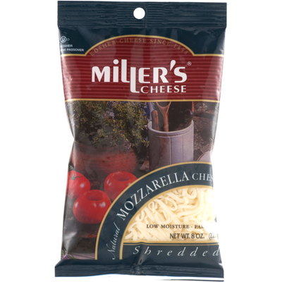 Miller's Cheese Cheese Natural Mozzarella Cheese Shredded