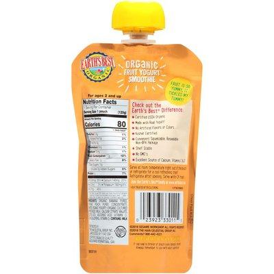 Earth's Best Sesame Street Peach Banana Organic Fruit Yogurt Smoothie