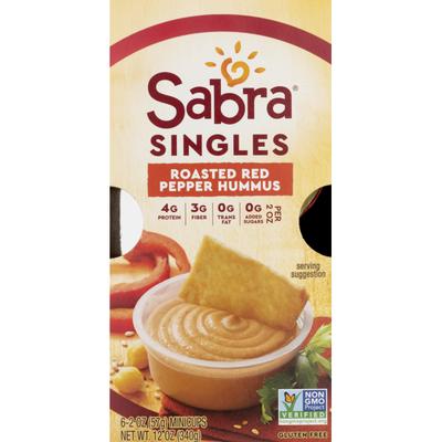 Sabra Singles Roasted Red Pepper Hummus