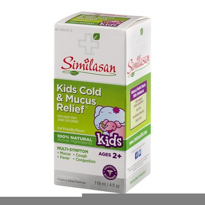 Similasan Kids Cold & Mucus Relief Expectorant Syrup Kids Ages 2+ Multi-Symptom
