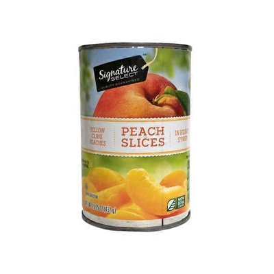 Signature Kitchens Peaches, in Heavy Syrup, Yellow Cling, Sliced