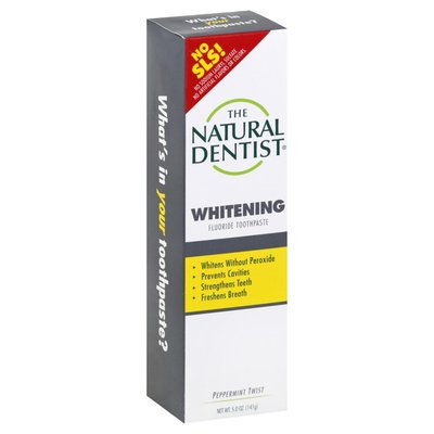 The Natural Dentist Toothpaste, Fluoride, Whitening, Peppermint Twist