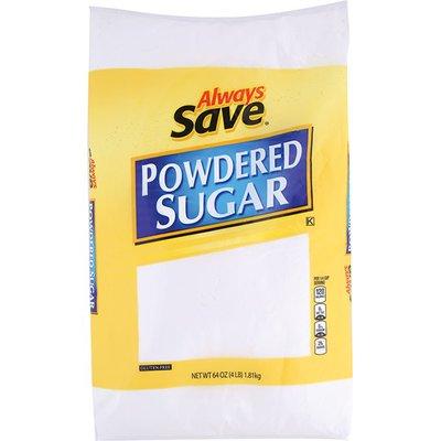 Always Save Powdered Sugar
