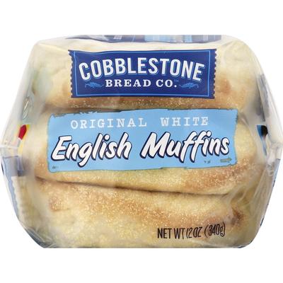Cobblestone Bread Co English Muffins, Original