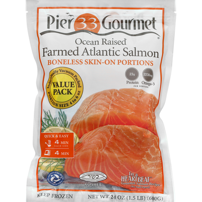 Pier 33 Gourmet Atlantic Salmon, Farmed, Value Pack