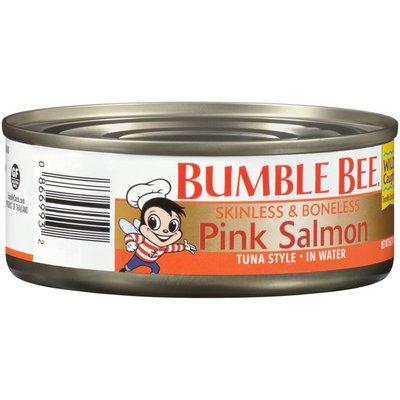 Bumble Bee Skinless & Boneless Pink Salmon Tuna Style in Water