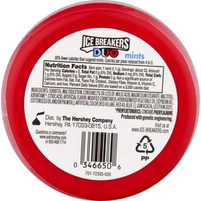 Ice Breakers Duo Fruit + Cool Mints Strawberry