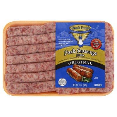 Dutch Farms Pork Sausage, Original, Links