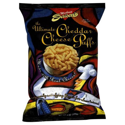 Michael Seasons Cheese Puffs, The Ultimate, Cheddar